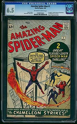 Amazing SpiderMan 1 CGC FN 65   Marvel Comics Spiderman
