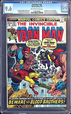 Iron Man 55  CGC 96  OWW Pgs  1st Appearance Thanos  Drax the Destroyer