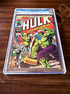The Incredible Hulk 181 MARVEL 74 CGC 8  Universal Blue  Offwhite Wolverine