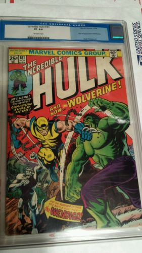 The incredible hulk 181 cgc 80 vf 1st full Wolverine Mutant xmen wendigo