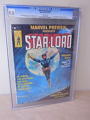 Marvel Preview 4 STARLORD 1st Appearance Origin 98 NMM CGC 1976 White Pages