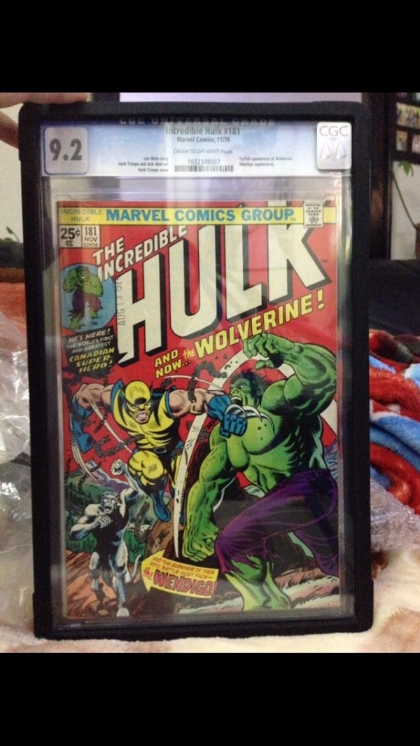The Incredible Hulk 181 CGC 92  1st Wolverine   Hot