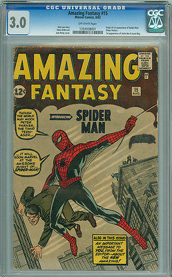 Amazing Fantasy 15 CGC 30 GVG Marvel 1962 1st Appearance Spiderman SA GRAIL