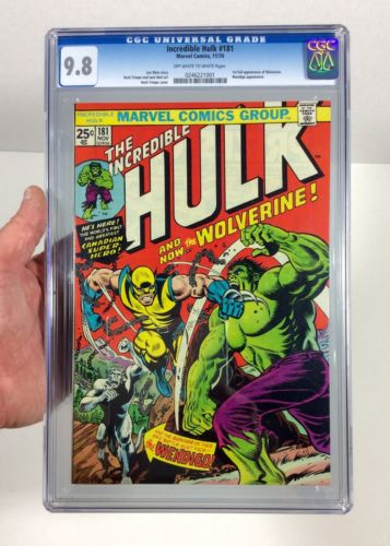 HULK 181 CGC 98 Mega KEY 1st Wolverine Universal Grade  Marvel Comics