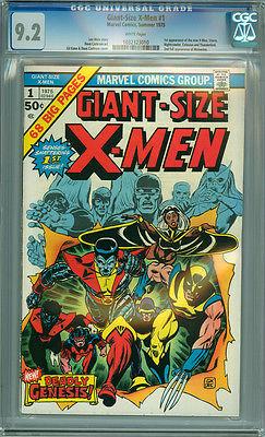 Giant Size XMen 1 CGC 92 NM WP Marvel 1975 1st App New Xmen Wolverine Storm