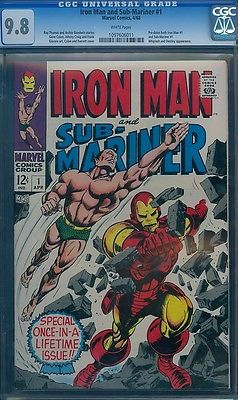 Iron Man Submariner 1 CGC 98 W LAST 98 SOLD  14000 PREDATES IRON MAN 1