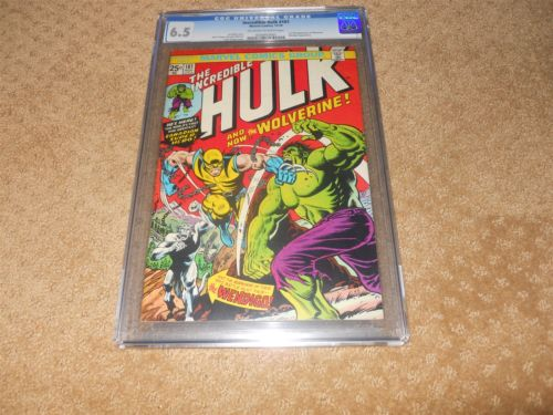 The Incredible Hulk 181 Nov 1974 CGC 65 Grade 1st Appearance Wolverine