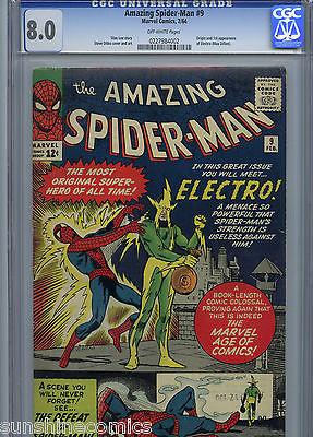 Amazing SpiderMan 9 CGC 80 Marvel Stan Lee Steve Ditko