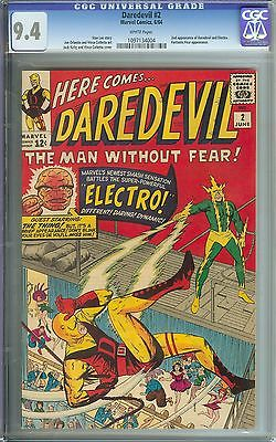 DAREDEVIL 2 CGC 94 WHITE PAGES  2ND APPEARANCE OF DAREDEVILELECTRO