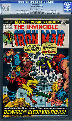 IRON MAN 55 19731st THANOSCGC GRADED 96KEY ISSUE
