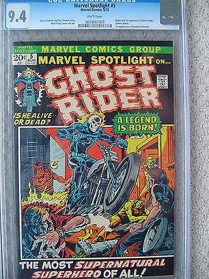 Marvel Spotlight 5 CGC 94 1972 1st Ghost Rider WHITE pages Johnny Blaze