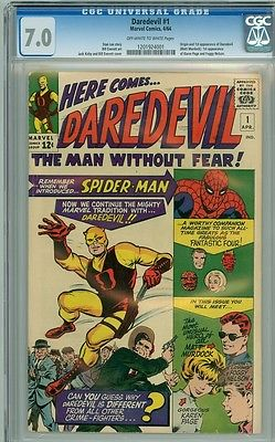 Daredevil 1 cgc 70 netflix HOT 1963 OWW pages cbcs pgx