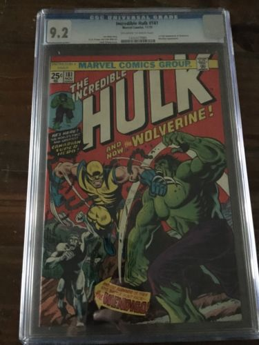 The Incredible Hulk 181 CGC 92 First full Wolverine