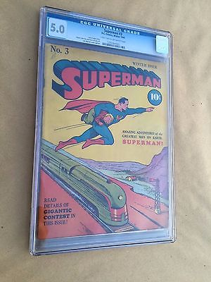 SUPERMAN 3 DC Comics WINTER 1940 CGC 50