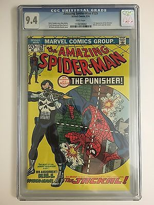 Amazing SpiderMan 129  CGC 94  WHITE PAGES  1st App of The Punisher ASM NM