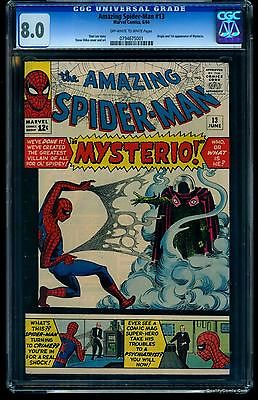 Amazing SpiderMan 13 CGC VF 80 1st appearance Mysterio