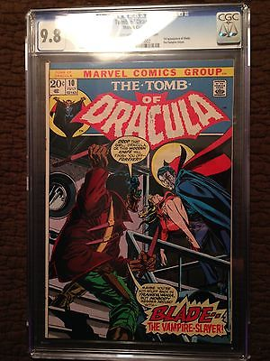 Tomb of Dracula 10 CGC 98 1973  OffWhite to White Pages  1ST BLADE