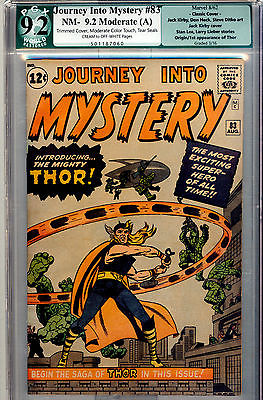 JOURNEY INTO MYSTERY 83 92 R PGX LIKE CGC 1ST THOR IRON MAN HULK AVENGERS