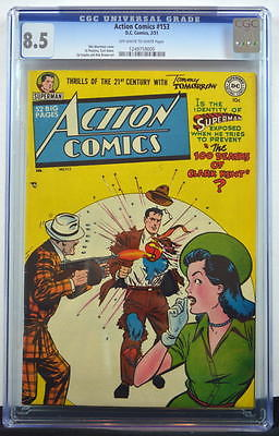 ACTION COMICS 153 CGC 85 Superman 1951 2nd Highest Graded Copy
