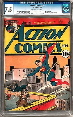 Action Comics 28 CGC 75 Classic Early Superman Appearance