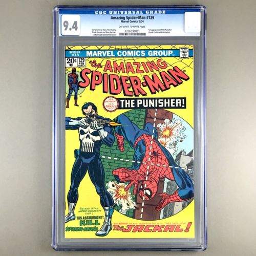 Amazing SpiderMan 129 1974 1st appearance PUNISHER Frank Castle CGC 94 NM