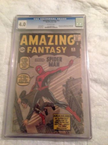 Amazing Fantasy 15 CGC 40 OffWhite Pages  First SpiderMan