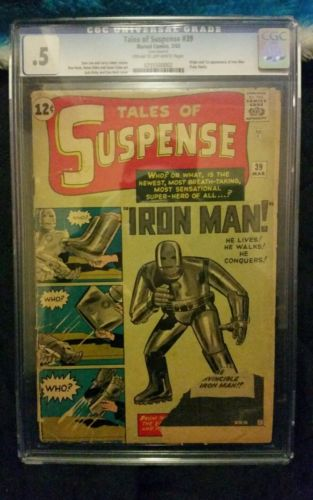 TALES OF SUSPENSE 39 CGC 5 FIRST IRON MAN MARVEL COMICS SILVER AGE 1963
