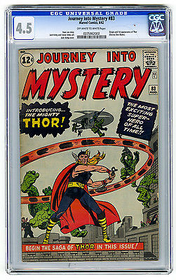 Journey into Mystery 83 CGC 45 OWW Thor Kirby Lee Marvel Silver Age Comic