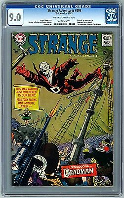 Strange Adventures 205 DC 1967 CGC 90 1st app Deadman