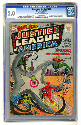 Brave  the Bold 28 CGC 20 First appearance of Justice League of America