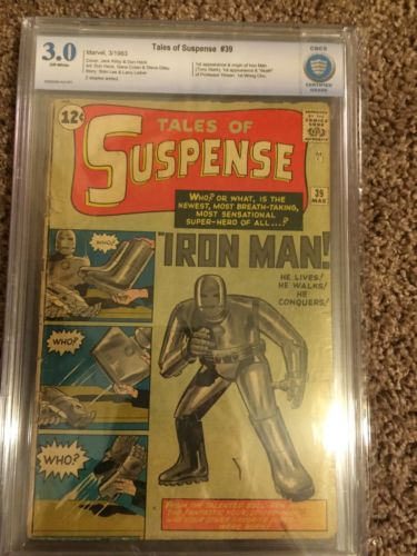 TALES OF SUSPENSE 39 1963 1st IRON MAN CBCS 30JACK KIRBYKEY ISSUE LIke CGC
