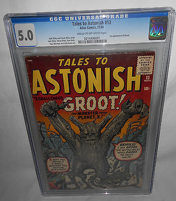 TALES TO ASTONISH 13 CGC 50 CREAMOFFWHITE PAGES 1960 TTA 1ST APPEARANCE GROOT