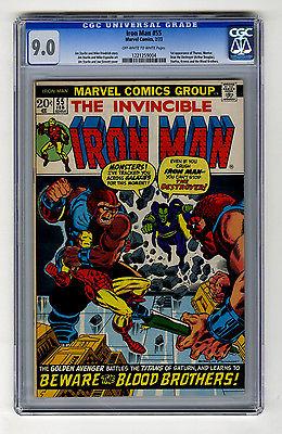 Iron Man 55 CGC 90 1st Thanos Drax Destroyer Marvel Bronze Age Comic Avengers