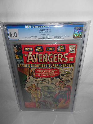 MARVEL COMICS AVENGERS 1 CGC 60 OFFWHITE PAGES 1963 HULK THOR IRONMAN