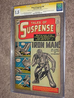 TALES OF SUSPENSE 39 CGC 15 SS Signed by Stan Lee  AvengersIron Man 1963