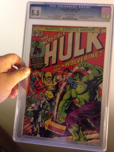 The Incredible Hulk 181 CGC 55 1st Wolverine