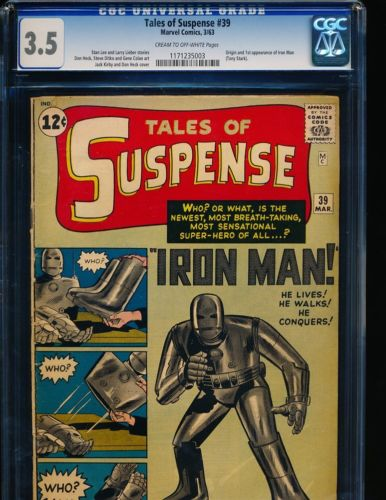Tales of Suspense  39  1st Iron Man CGC 35 CREAMOW Pgs