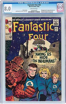 Fantastic Four 45 CGC 80 1st app of The Inhumans Marvel 1965