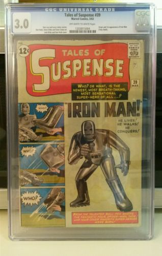 TALES OF SUSPENSE 39 CGC 30 OWW FIRST IRON MAN  SILVER AGE HOLY GRAIL WOW