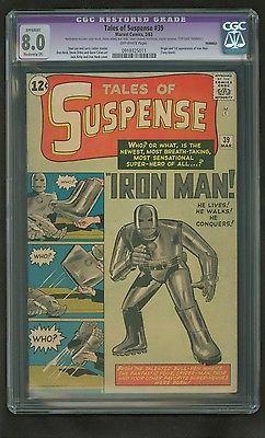 Tales of Suspense 39 CGC 80 MP RESTO OW Pgs Origin1st Iron Man id 14253