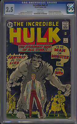Incredible Hulk 1 CGC 25 Unrestored WHITE Pages Marvel Comics 1962