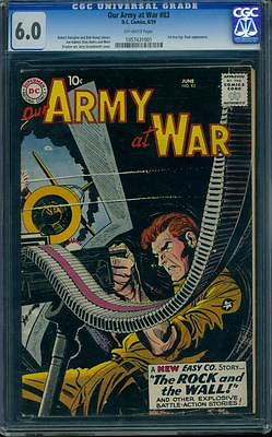 Our Army at War 83 CGC 60 OW SIlver Age Key DC Comic 1st App Sgt Rock LK