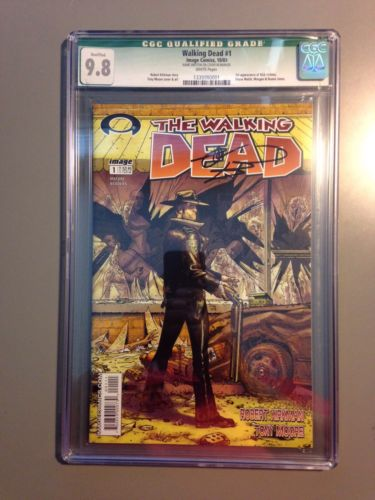 AUTOGRAPHED The Walking Dead Issue 1 First Print CGC 98 Signed Robert Kirkman