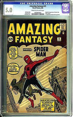 Amazing Fantasy 15 CGC 50 VGFN Marvel Comics COW Origin 1st app SpiderMan