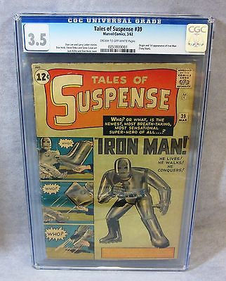TALES OF SUSPENSE 39 Iron Man 1st app  origin CGC 35 Marvel Comics 1963