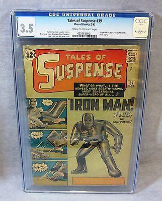 TALES OF SUSPENSE 39 Iron Man 1st app  origin CGC 35 Marvel Comics 1963