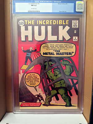 Hulk 6 CGC 94 Old label Looks like a 96