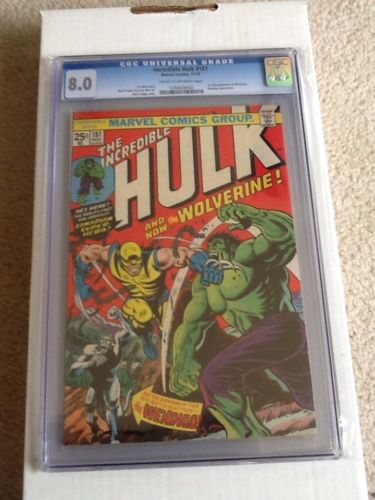 The Incredible Hulk 181 Nov 1974 Marvel CGC 80 FIRST WOLVERINE