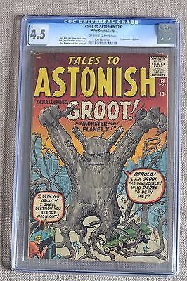 Tales To Astonish 13 CGC 45 1st GROOT 1960 rare Marvel Guardians of the Galaxy