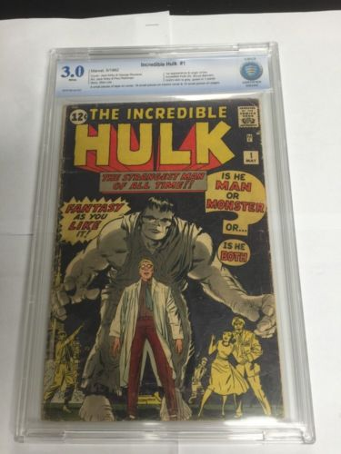 Incredible Hulk 1 Cbcs Like Cgc 30 White Pages 1St Apperance Of Hulk